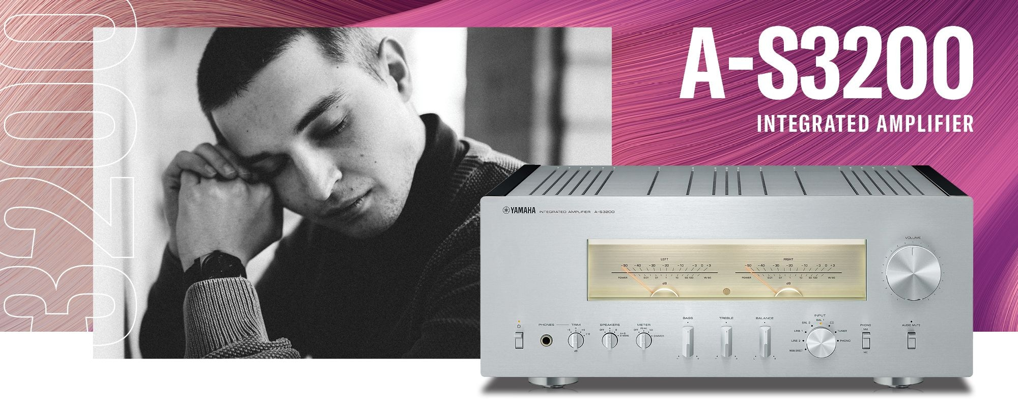 A-S3200 Integrated Amplifier - Header Banner - Desktop