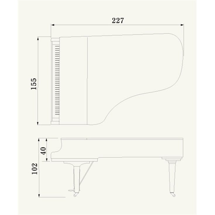 Cx series overview grand pianos pianos musical for Yamaha grand piano sizes