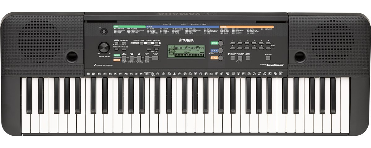 Psr e253 specs yamaha united states for Yamaha professional keyboard price