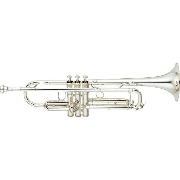 yamaha intermediate trumpet. silver-plated yamaha intermediate trumpet