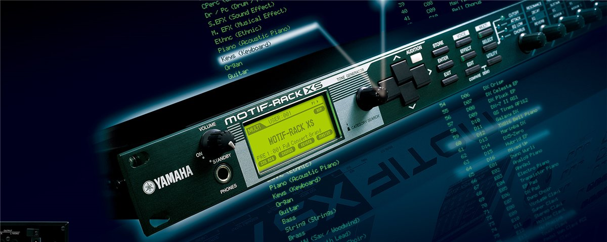 MOTIF-RACK XS - Overview - Synthesizers - Synthesizers & Music