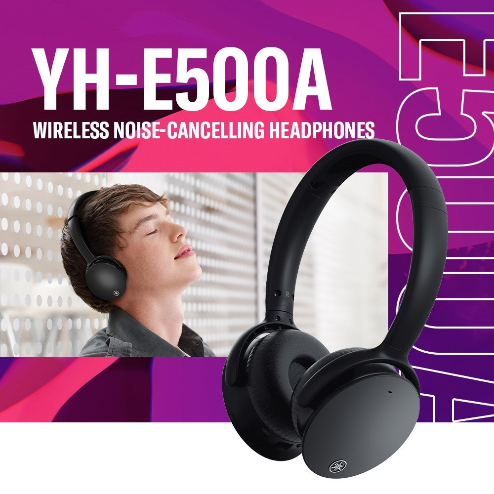 Yamaha YH-E500A Wireless Noise-Cancelling Headphones - Header - Mobile
