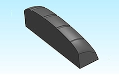 Precisely shaped nut by NC machine tools