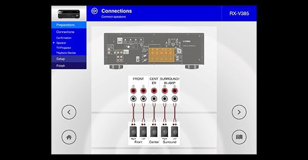 AV Setup Guide App for Initial Setup