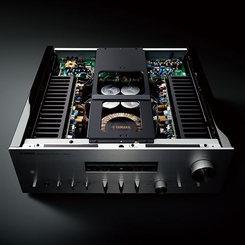 mechanical ground concept showing exposed top of A-S2200 integrated amplifer