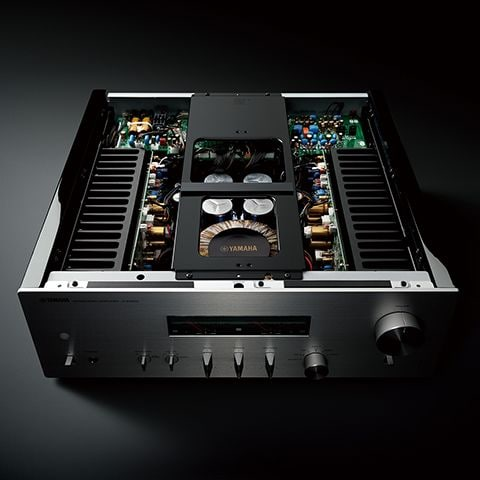 mechanical ground concept showing exposed top of A-S1200 integrated amplifer