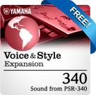 340 Pack (Sound from PSR-340) (Yamaha Expansion Manager compatible data)