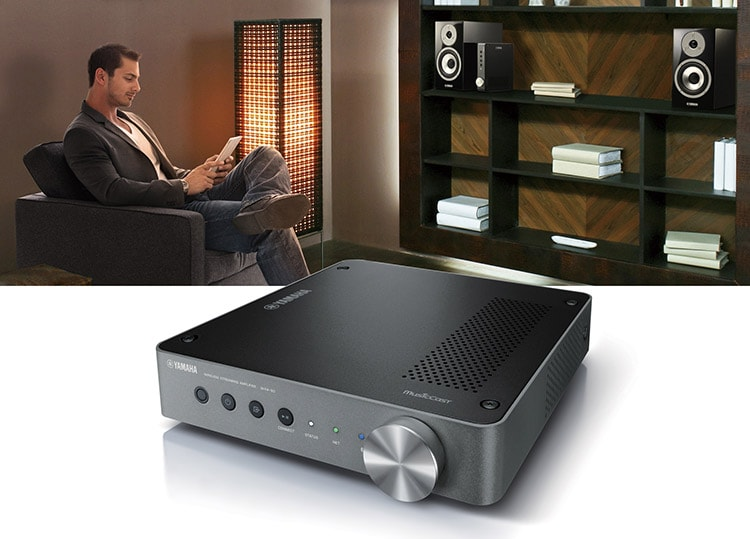 yamaha wxa 50 amplifier and wxc 50 preamplifier bring musiccast wireless streaming to existing speakers and audio equipment