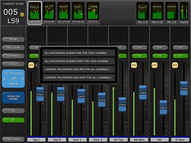 LS9 StageMix - Features - Software - Professional Audio